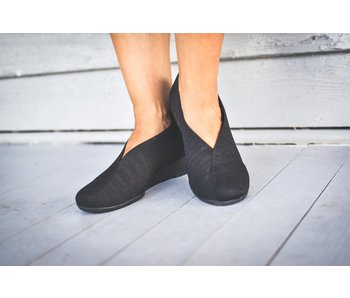 Charleston Shoe Co. Cape -black herringbone shoe