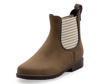 Charleston Shoe Co. Chelsea Rain Boot -Tan