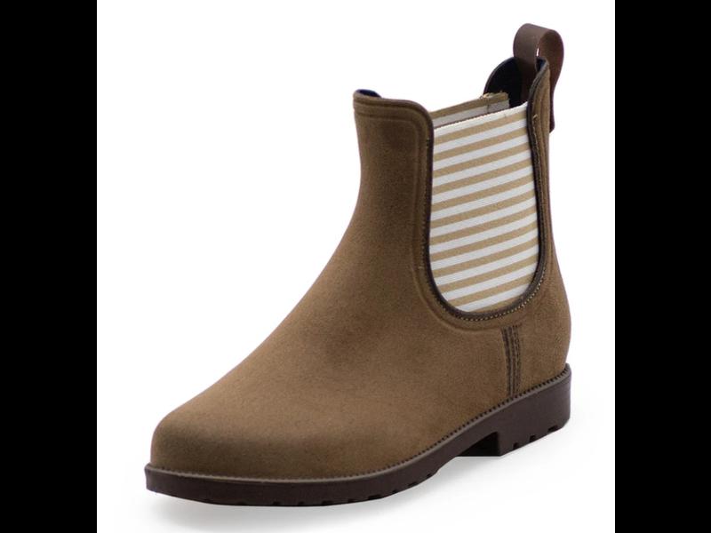 Charleston Shoe Co. Chelsea Rain Boot -Tan