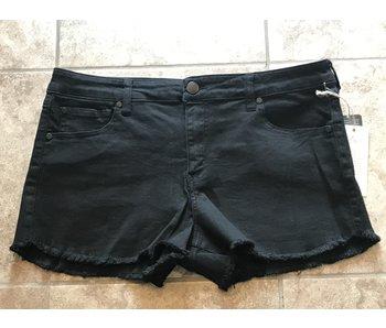 Elan Black shorts with frayed bottoms