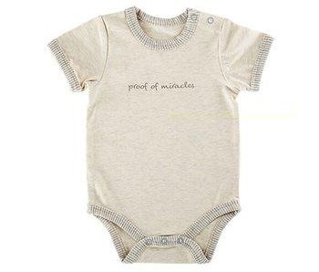 Creative Brands Proof of Miracles baby onesie -size 0-3 months
