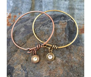 Buffalo Girls Salvage Bullet Bangle Bracelet -Copper or Bronze