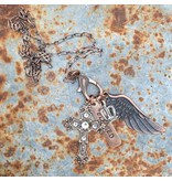 Buffalo Girls Salvage Blessed treasure charm necklace