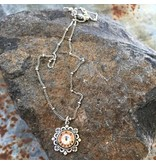 Buffalo Girls Salvage Bullet Flower Necklace -Antique silver recycled jewelry