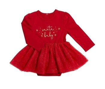 Creative Brands Santa Baby red snap shirt dress -size 6-12 months