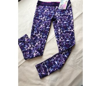 Geo-Scope print w/blur depths girls yoga pants - 7/8 Small