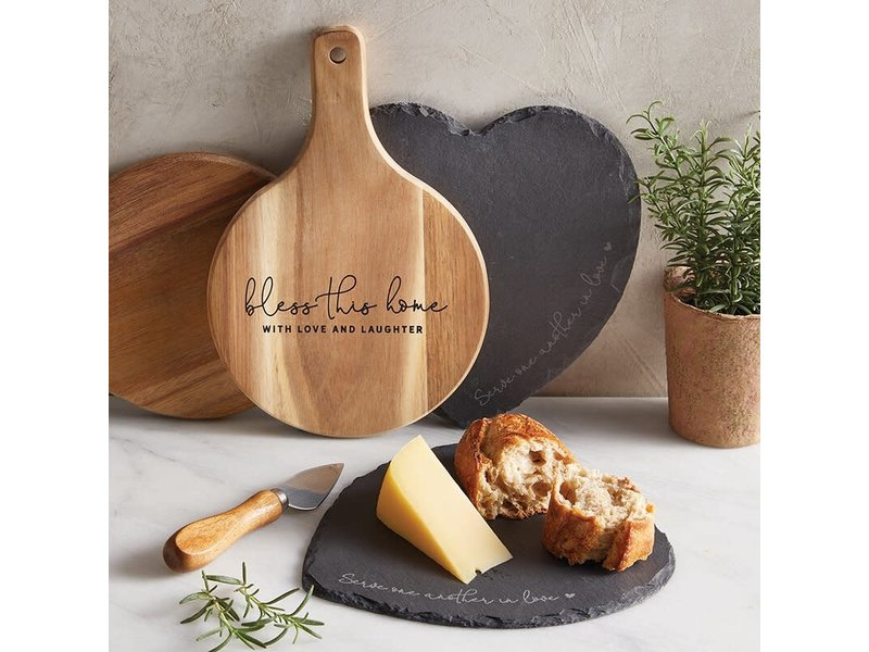 Creative Brands Slate Heart board & cheese spade knife set -Serve one Another