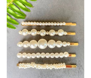 Pretty Simple Pearl Hair Clips