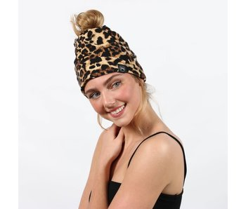 Pretty Simple Leopard Peek-a-Boo versatile Beanie