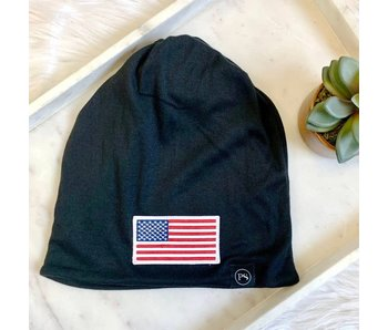 Pretty Simple American Flag Patch versatile Beanie