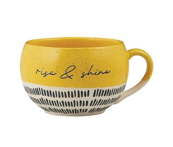 faithworks Rise & Shine mug handcrafted in natural stoneware