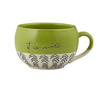 faithworks It is Well mug handcrafted in natural stoneware