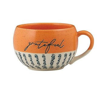 faithworks Grateful mug handcrafted in natural stoneware