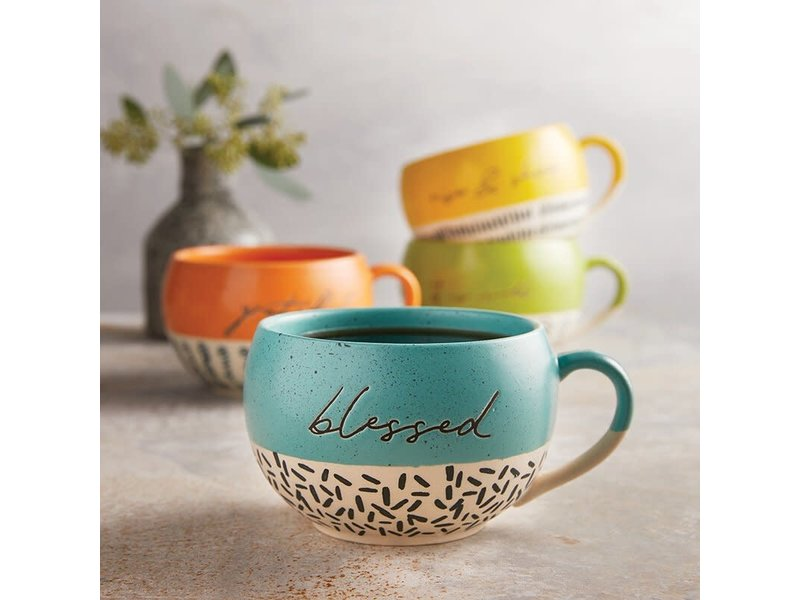 faithworks Blessed mug handcrafted in natural stoneware