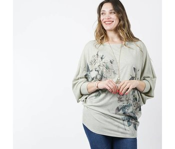42pops Watercolor sublimation dolman top