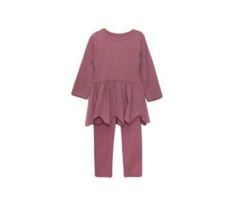 Mabel & Honey Knit 2 Pc scalloped top & pants
