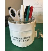 faithworks Washable Paper Holder with glass cup and lid - Thankful