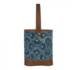 Myra Bags COOL BLUE WINE BAG