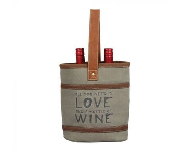 Myra Bags WINE AND LOVE DOUBLE WINE BAG