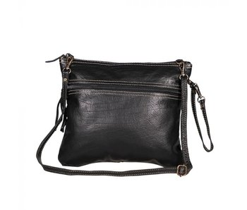 Myra Bags BLACK BEAUTY LEATHER BAG