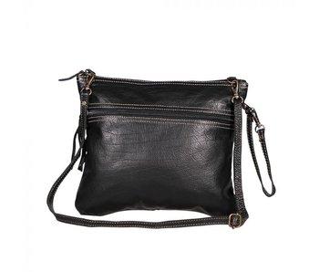 Myra Bags BLACK BEAUTY LEATHER BAG