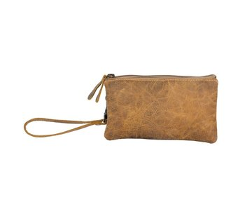 Myra Bags BROWN ORCHESTRA SMALL LEATHER BAG