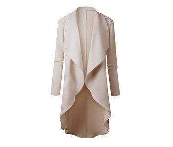 Mountain Valley Trading Asymmetric Drape Long Sleeve Coat