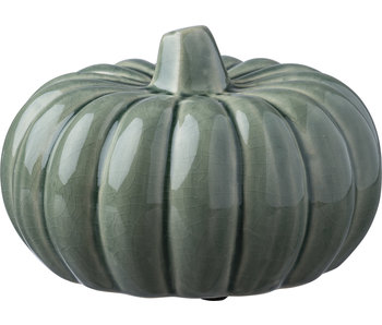 Primitives by Kathy Ceramic Pumpkin Medium -Green