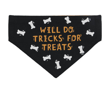 Primitives by Kathy Reversible Dog Collar Bandana -Tricks for Treats