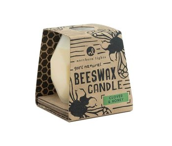 Northern Lights Bee Hive Beeswax candle