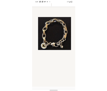 Genuine Brighton Two Tone Oval Link Bracelet