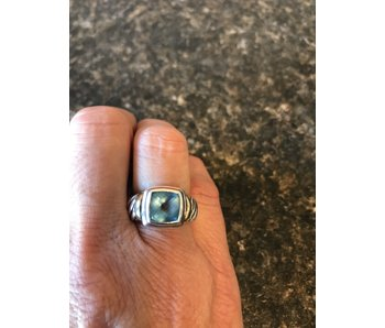 Genuine David Yurman Blue Topaz Noblesse Cocktail Ring Size 6