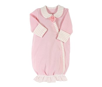 Santa Barbara Preemie Gown -Light Pink Striped