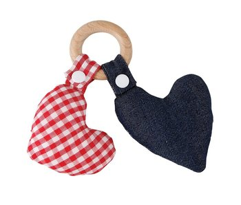 Santa Barbara Heart wood teether toy