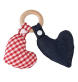 Santa Barbara Heart wood teether toy