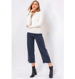 Gilli Cable knit top with button detail
