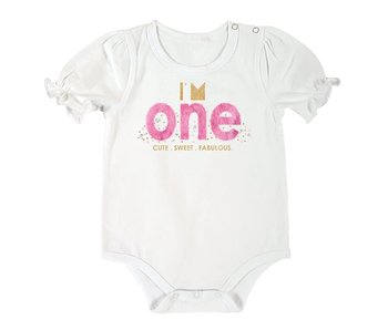 Santa Barbara 1st birthday snap shirt -I'm One