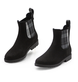 Charleston Shoe Co. Chelsea Rain Boot -Black w/gray