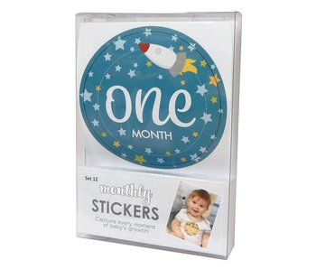 Santa Barbara Monthly sticker photo sets for baby boy