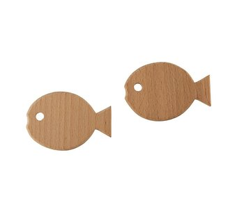 Santa Barbara Fish 2 pack wood hooks