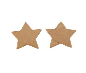 Santa Barbara Star 2 pack wood hooks