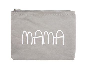 Santa Barbara Washable Gray Large Paper Pouch