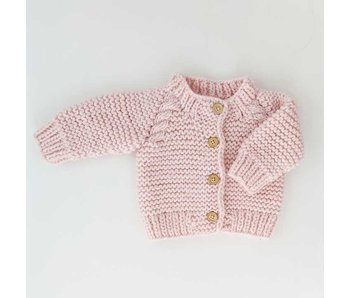 Huggalugs Blush Pink Cardigan Sweater -Size 2-3T