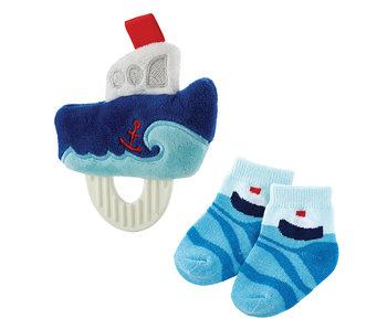 faithworks Boat teether toy & socks set