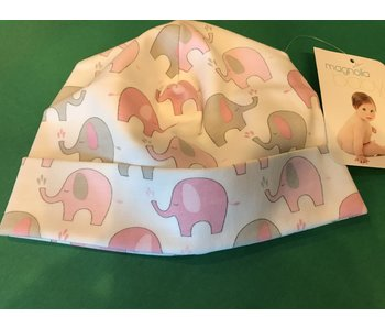 Magnolia Baby Elephant printed hat pink -size 3-6 months