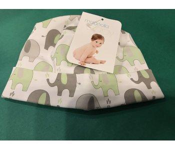 Magnolia Baby Green Elephant hat -size NB