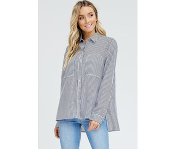 in-loom Striped button down with double pockets