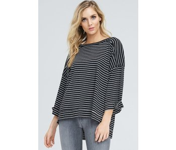 in-loom Oversized striped ribbed knit top