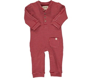 Me & Henry Striped Jersey Romper