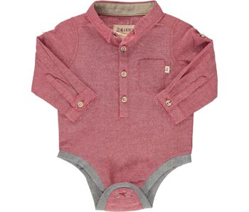 Me & Henry Solid woven onesie